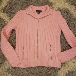 Ralph Lauren Cardigan cable zip sweater Medium M